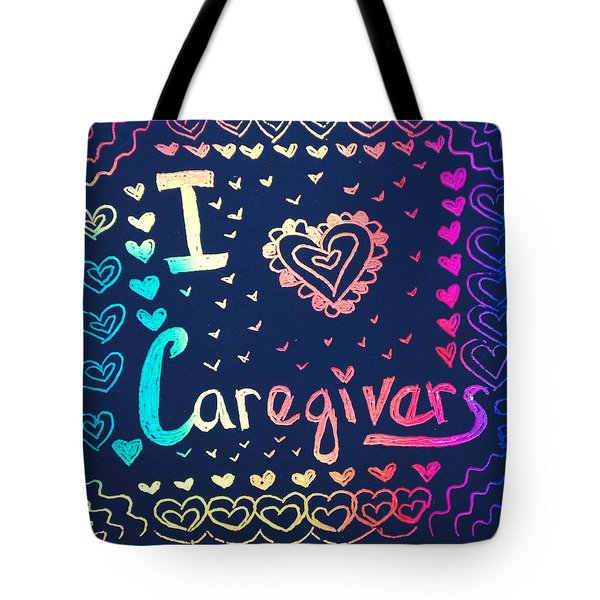 Caregiver Rainbow Tote Bag
