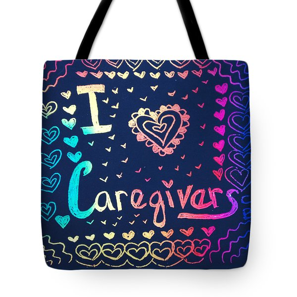 Caregiver Rainbow Tote Bag