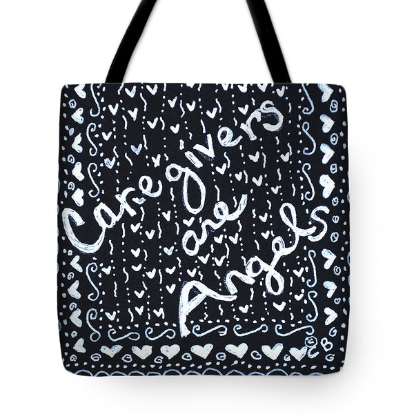 Caregivers Are Angels Tote Bag