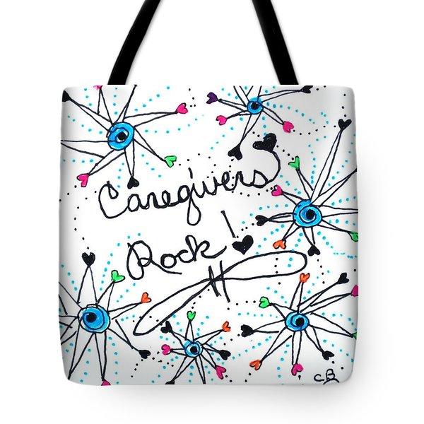 Caregivers Rock Tote Bag