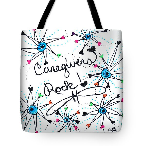 Caregivers Rock Tote Bag by Carole Brecht