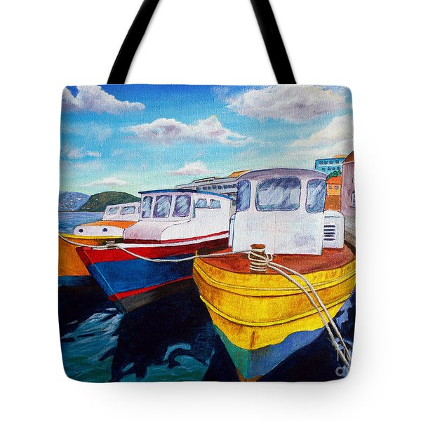 Carenage Scene 1 Tote Bag by Laura Forde
