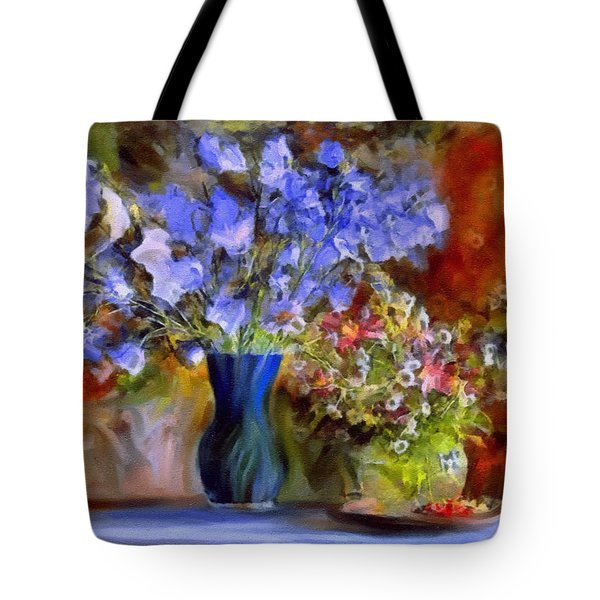 Tote Bag featuring the painting Caress Of Spring - Impressionism by Isabella Howard