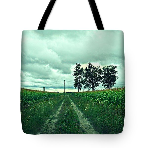 Caressing The Corn Path Tote Bag