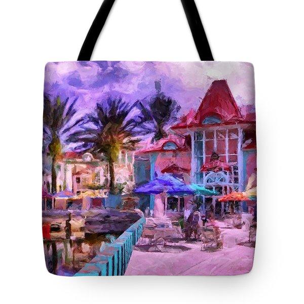 Caribbean Beach Resort Tote Bag