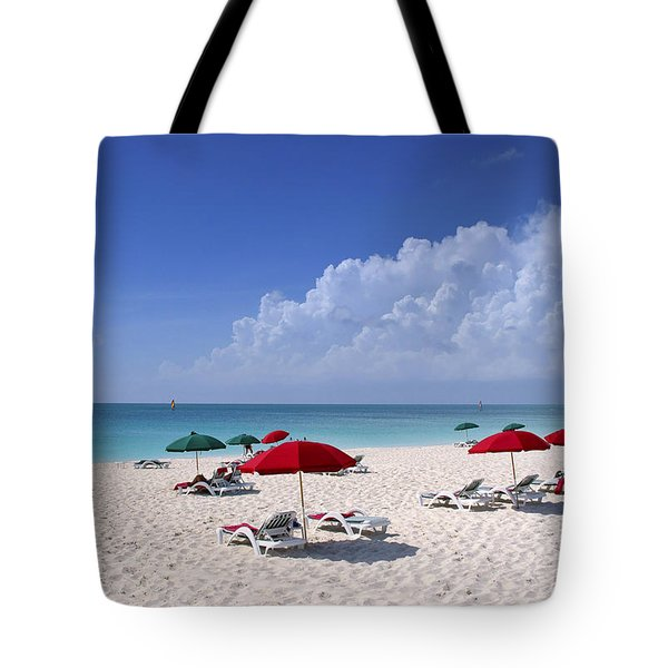 Caribbean Blue Tote Bag by Stephen Anderson