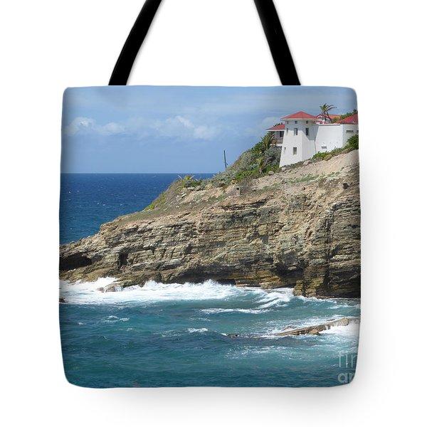 Caribbean Coastal Villa Tote Bag