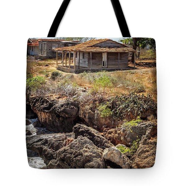 Tote Bag featuring the photograph Caribbean Coastline Cuba by Joan Carroll