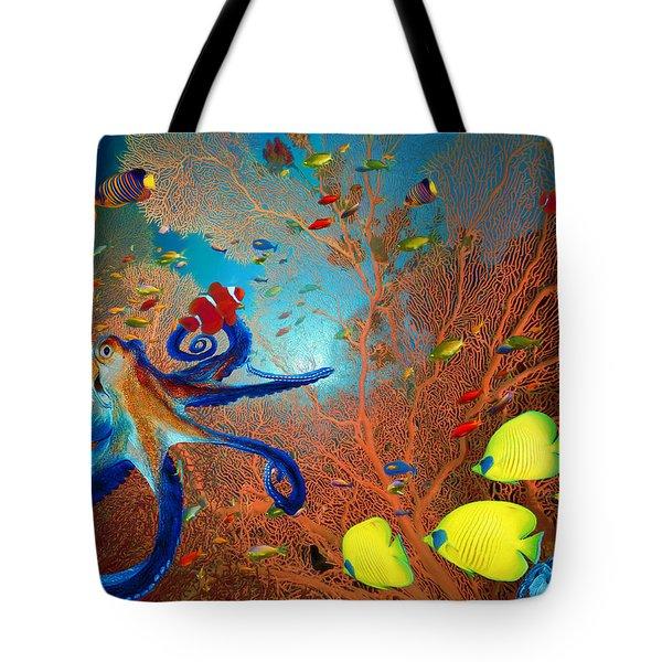 Caribbean Coral Reef Tote Bag
