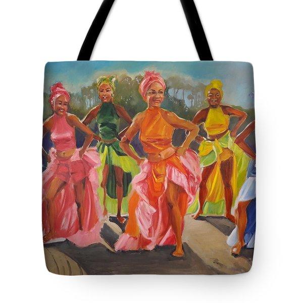 Caribbean Dancers Tote Bag