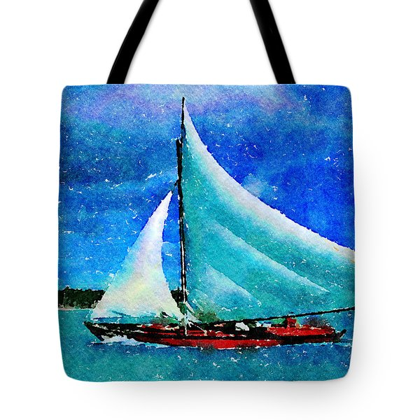 Tote Bag featuring the painting Caribbean Dream by Angela Treat Lyon