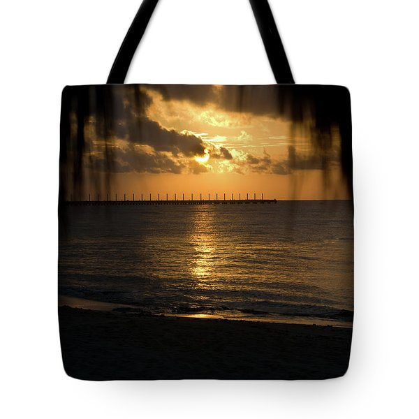 Caribbean Early Sunrise 5 Tote Bag by Douglas Barnett