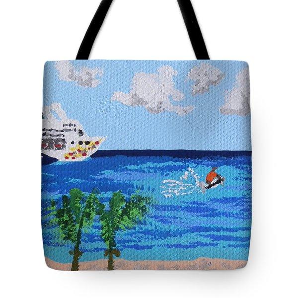 Caribbean Jet Ski Tote Bag
