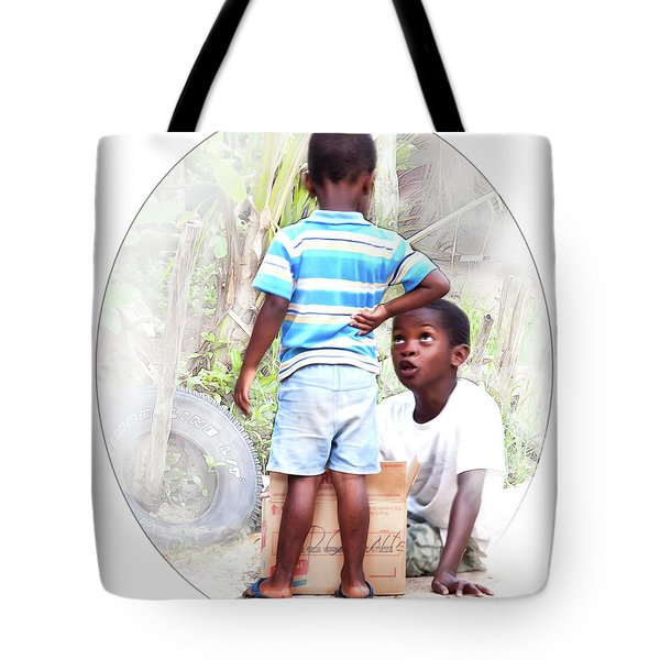 Caribbean Kids Illustration Tote Bag