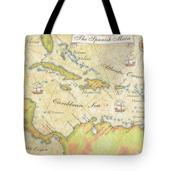 Caribbean Map - Good Tote Bag by Sample