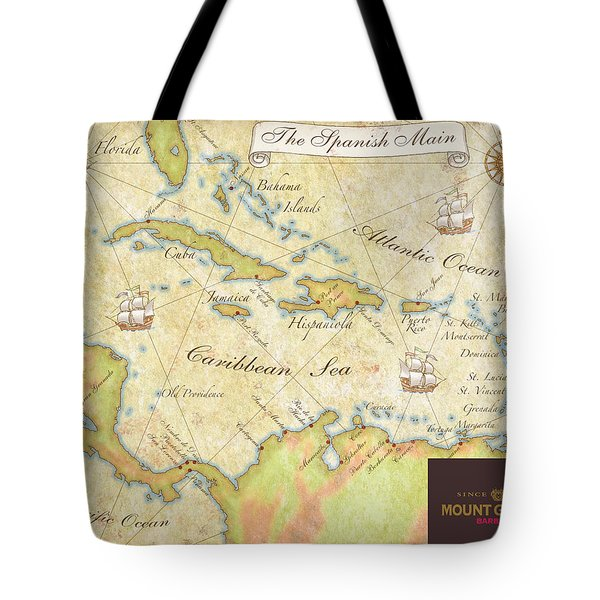 Caribbean Map II Tote Bag by Unknown