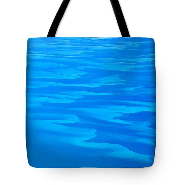Caribbean Ocean Abstract Tote Bag
