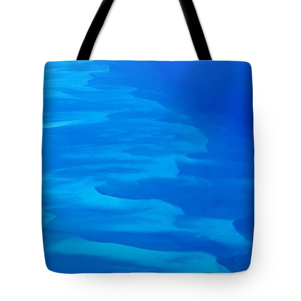 Tote Bag featuring the photograph Caribbean Ocean Mosaic  by Jetson Nguyen