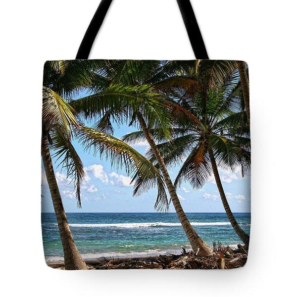 Caribbean Palms Tote Bag