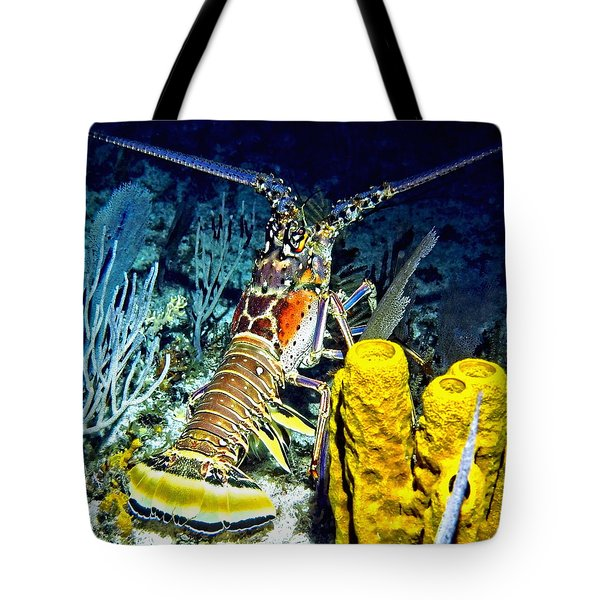 Caribbean Reef Lobster Tote Bag