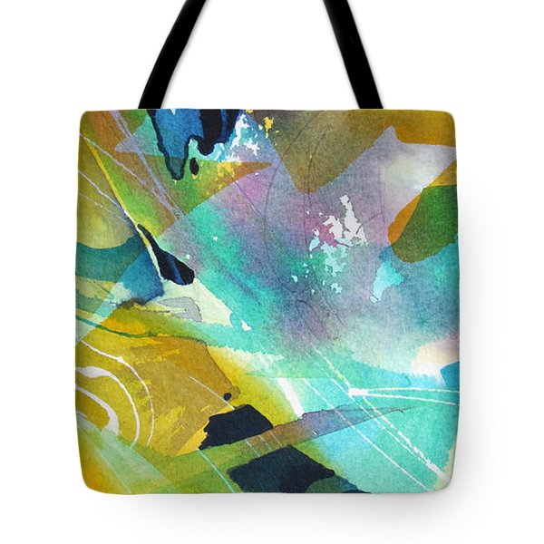 Tote Bag featuring the painting Caribbean Rhythm by Rae Andrews