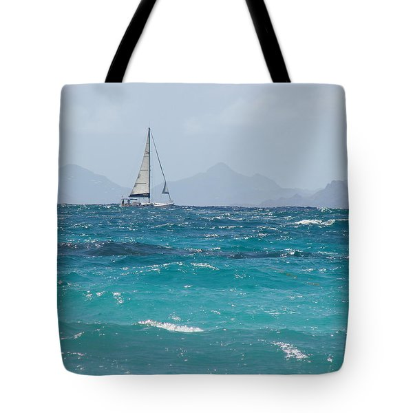 Tote Bag featuring the photograph Caribbean Sailing by Margaret Bobb
