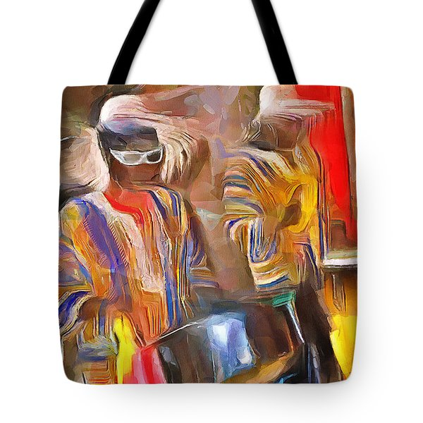 Caribbean Scenes - Pan And Drums Tote Bag