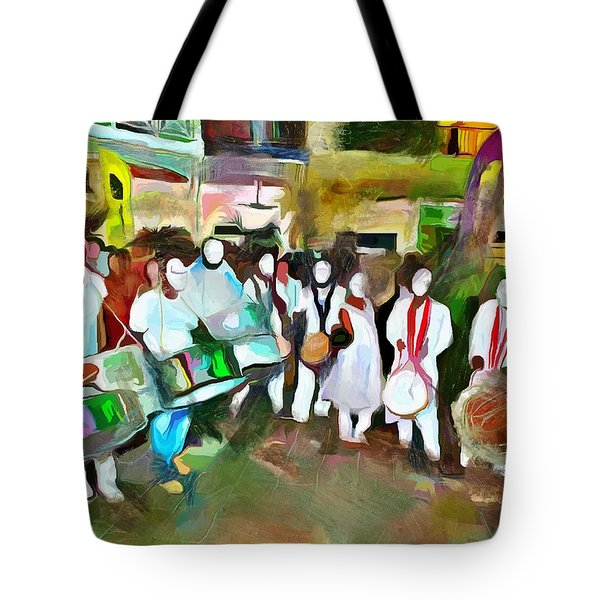 Caribbean Scenes - Pan And Tassa Tote Bag