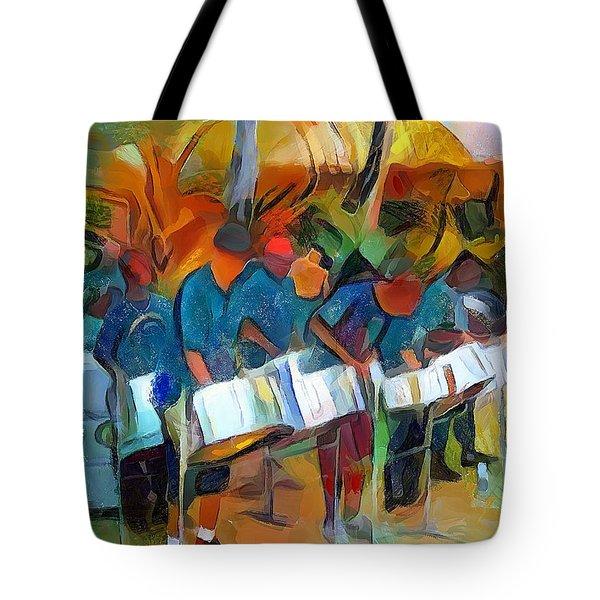 Caribbean Scenes - Steel Band Practice Tote Bag