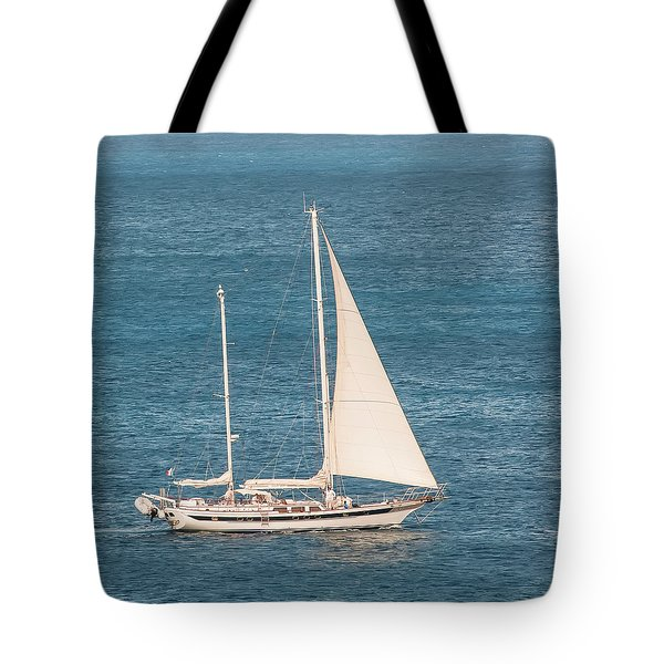 Tote Bag featuring the photograph Caribbean Scooner by Gary Slawsky