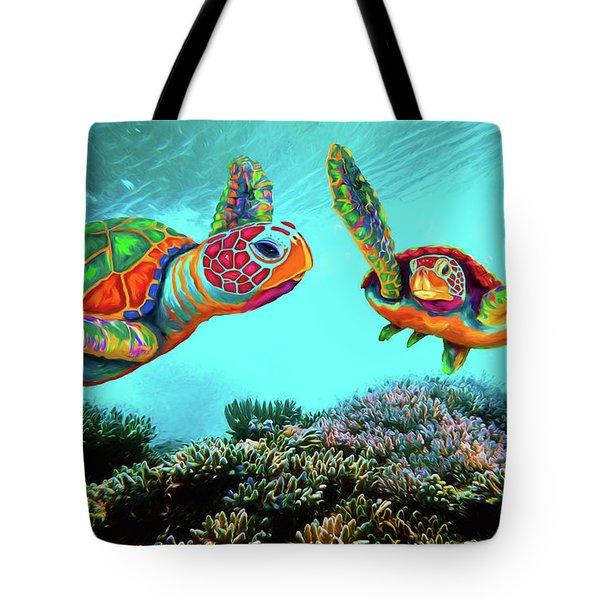 Caribbean Sea Turtles Tote Bag