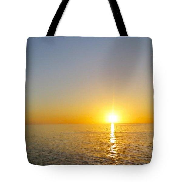Caribbean Sunset Tote Bag by Teresa Wing