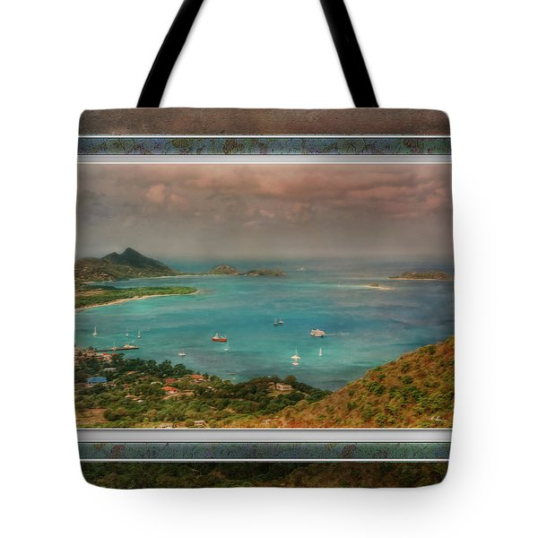 Tote Bag featuring the digital art Caribbean Symphony by Hanny Heim