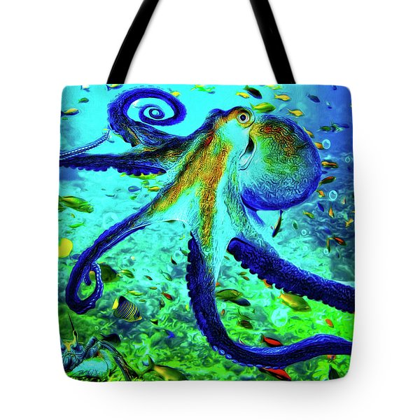 Caribbean Tropical Reef Tote Bag