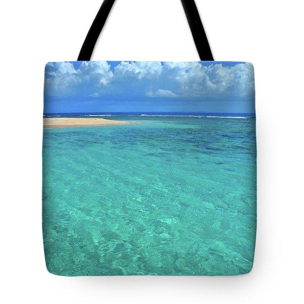 Caribbean Water Tote Bag