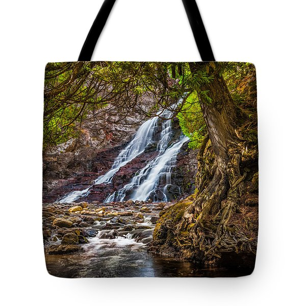 Caribou Falls In Fall Tote Bag