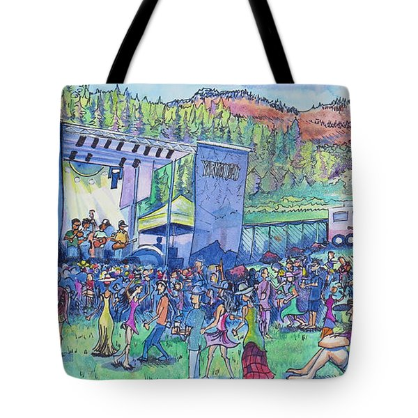 Caribou Mountain Collective At Yarmonygrass Tote Bag by David Sockrider