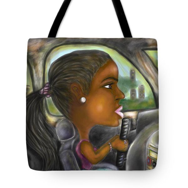 Caricature Ride With Jay Tote Bag