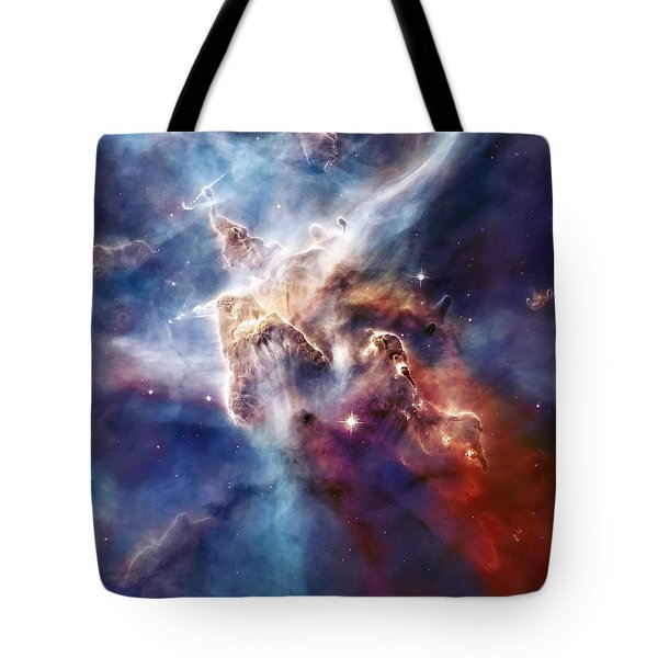 Carina Nebula Pillar Tote Bag by Jennifer Rondinelli Reilly - Fine Art Photography