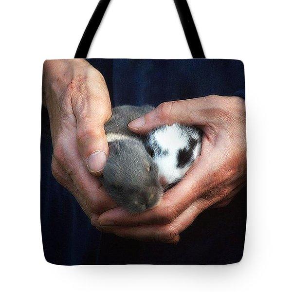Caring Hands Tote Bag