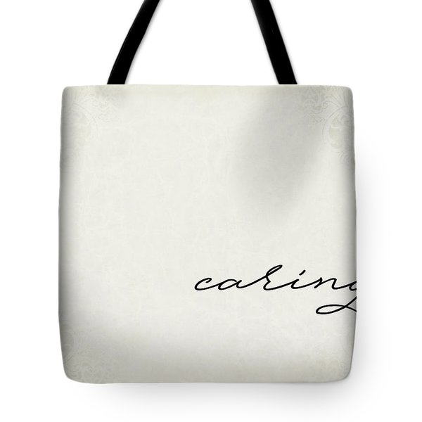 Caring One Word Series Tote Bag