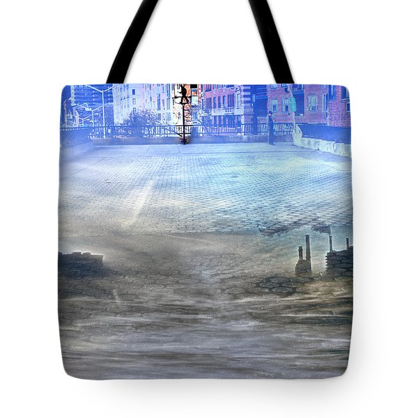 Carl Schurz Park Collage Tote Bag