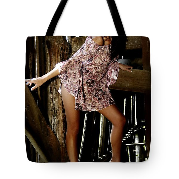 Carla's In The Barn Again Tote Bag by Clayton Bruster
