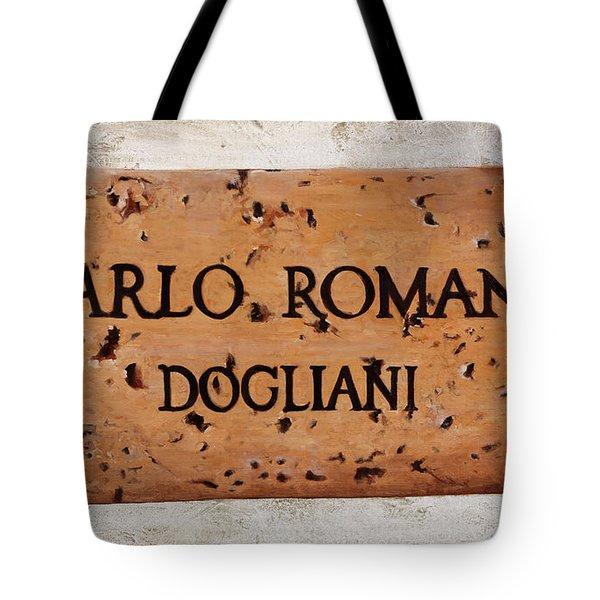 Carlo Romana Dogliani Tote Bag