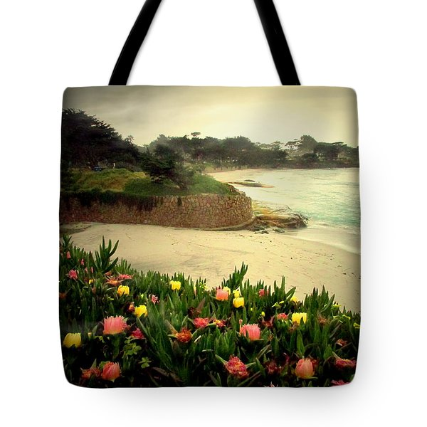 Carmel Beach And Iceplant Tote Bag