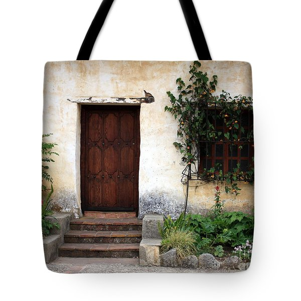 Carmel Mission Door Tote Bag