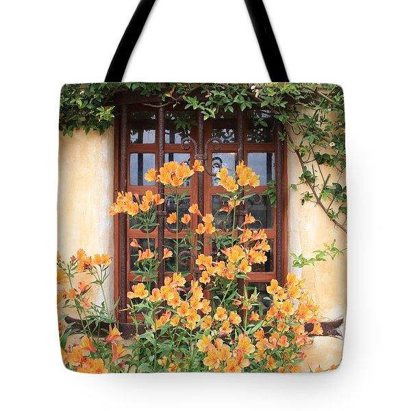 Carmel Mission Window Tote Bag by Carol Groenen