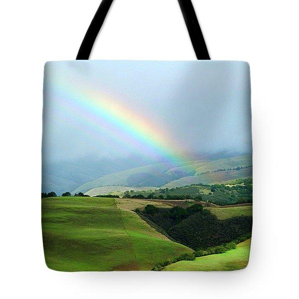 Carmel Valley Rainbow Tote Bag