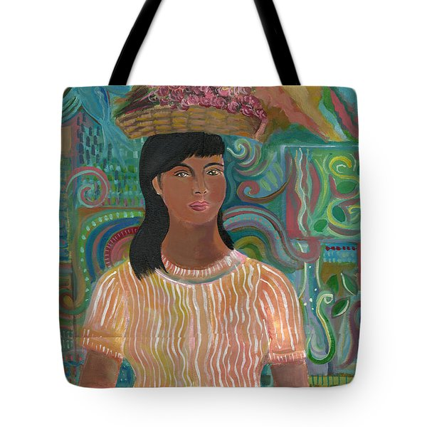 Tote Bag featuring the painting Carmelita by John Keaton