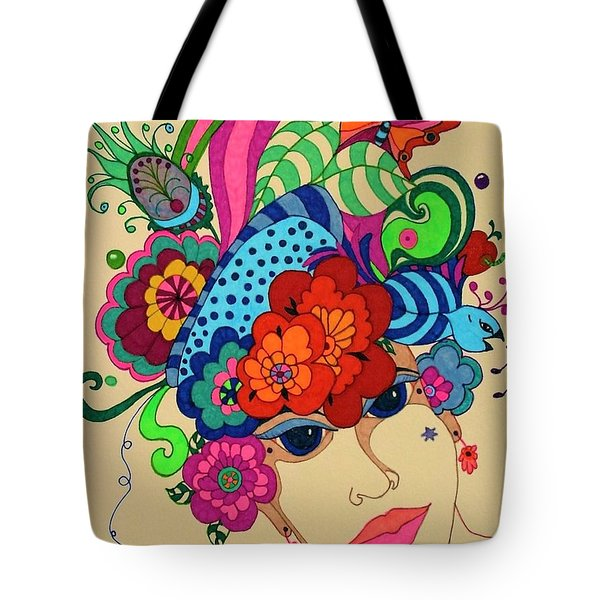 Tote Bag featuring the painting Carmen by Alison Caltrider
